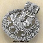 Птица Гамаюн из серебра