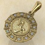 Козерог золото с бриллиантами