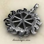 Посолонь из серебра