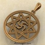 Символ Рода в звезде Инглии из красного золота
