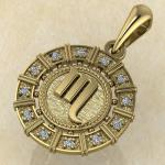 Скорпион золото с бриллиантами