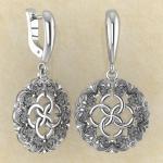 Серьги Страстное цветение со свадебником из серебра от мастерской BROKKA