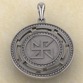 Кулон Солонь-Яроврат из серебра