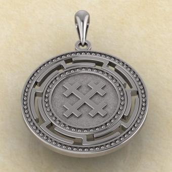 Подвеска символ Богини Мары из серебра
