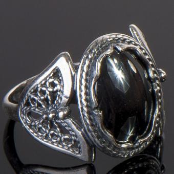 кольцо с гематитом