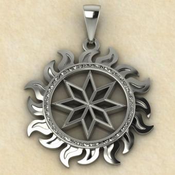 Мужской вариант алатыря серебро