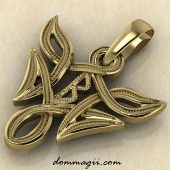 Беркана в вязи золото