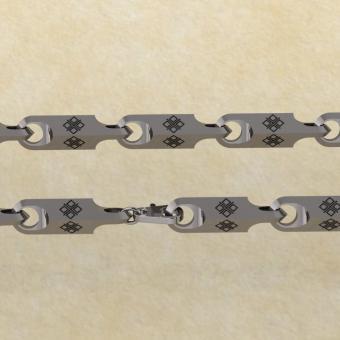 Славянская цепь с оберегом Макошь