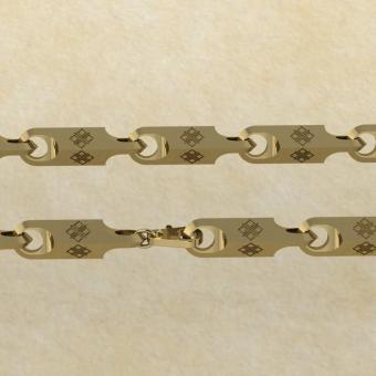 Славянская цепь с оберегом Макошь золото