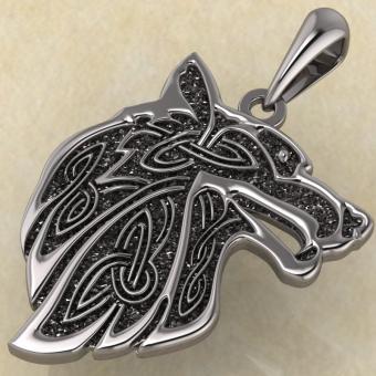 Славянский оберег «Волк» серебро