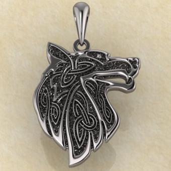 Подвеска Славянский оберег «Волк» серебро