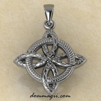 Кельтский четырехлистник серебро