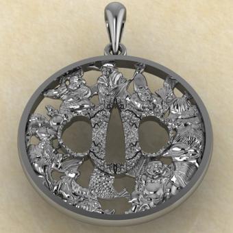 Цуба Семь богов счастья из серебра