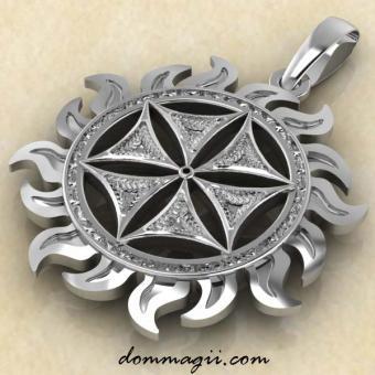 Цветок Афродиты из серебра