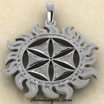 Талисман Цветок Афродиты из серебра