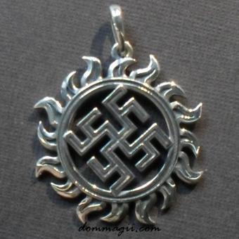 Цветок папоротника из серебра