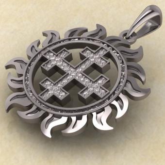 Двенадцатиконечный крест в Солнце