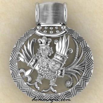 Оберег Птица Гамаюн серебро