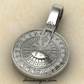 Рунический круг колесо из серебра
