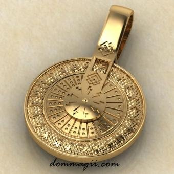 Рунический круг колесо золото
