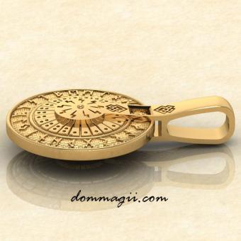 Крутящийся Рунический круг колесо золото