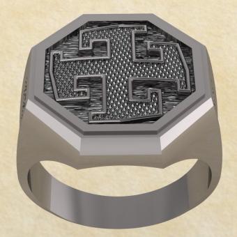 Славянское кольцо-оберег Богодар серебро