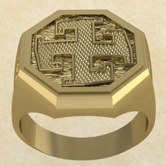 Славянское кольцо-оберег Богодар золота