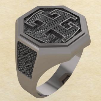 Кольцо-оберег Богодар серебро