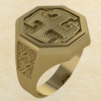 Кольцо-оберег Богодар золото
