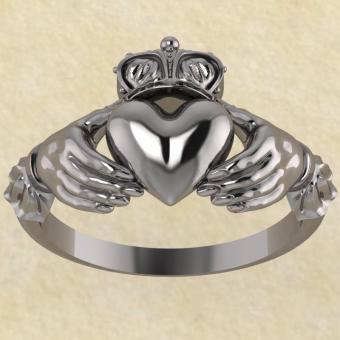 Культовое кольцо Кладда (Кладдахское кольцо) серебро