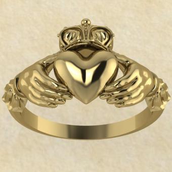 Культовое кольцо Кладда (Кладдахское кольцо) золото