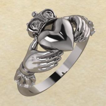Кольцо Кладда серебро