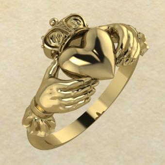 Кольцо Кладда золото