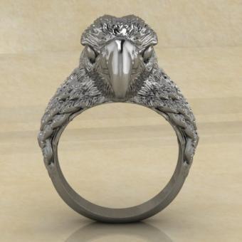 Славянское кольцо Рарог-сокол