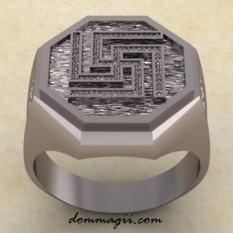 Славянское кольцо с Рубежником серебро
