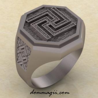 Кольцо Рысич серебро