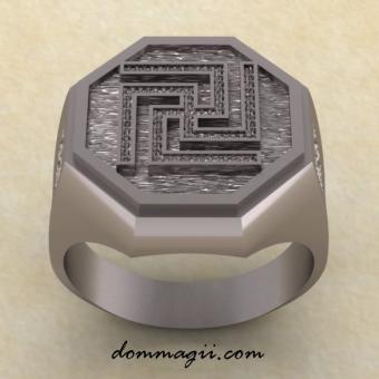 Славянское кольцо Рысич из серебра