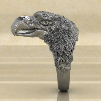 Языческое кольцо с орлом