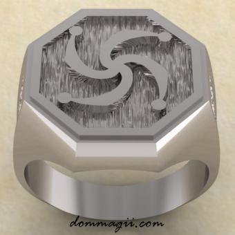 Кольцо с символом Рода из серебра
