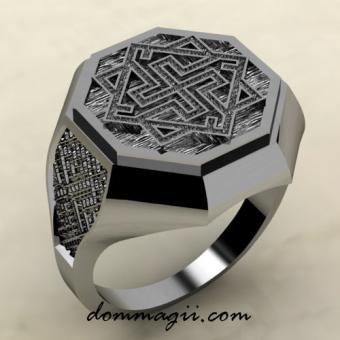 Кольцо с Валькирией