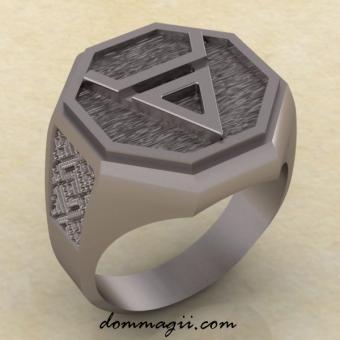Кольцо символ Велеса серебро