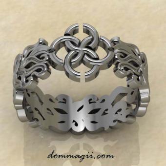 """Кольцо Свадебник """"Чувственность и изобилие"""" из серебра"""