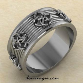 Кольцо «Нити притяжения» серебро