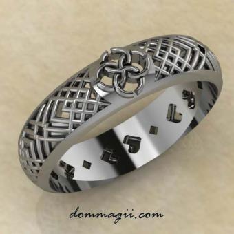 """Кольцо Свадебник """"Счастливый Очаг"""" из серебра"""