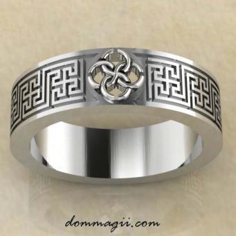 Кольцо Свадебник «Солнечное счастье» из серебра.