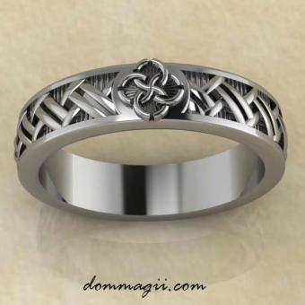 Кольцо Свадебник «Сплетение судеб» из серебра