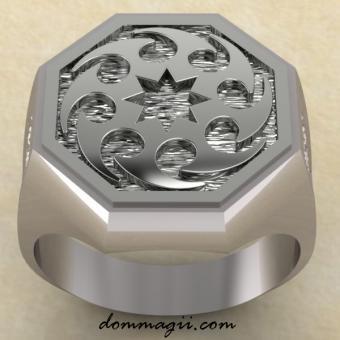 Кольцо с Солнцеворотом серебро