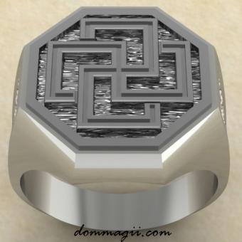 Кольцо Солярный крест серебро