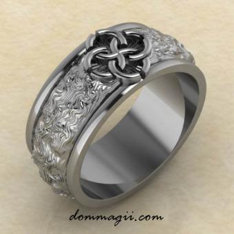 Кольцо со Свадебником Гармония из серебра