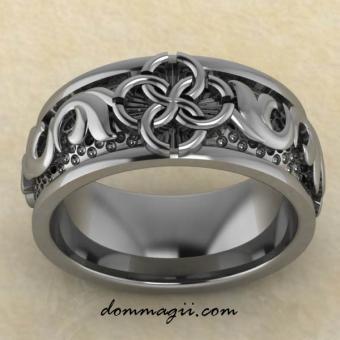 Славянское кольцо Свадебник «Верность вечным ценностям» из серебра